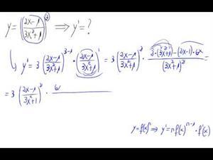 Derivada - Potencia de cociente de polinomios
