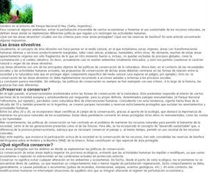 Conservación de la naturaleza. Las áreas protegidas y las reservas de biosfera en la Argentina