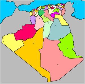 Mapa interactivo de Argelia: provincias y capitales (luventicus.org)