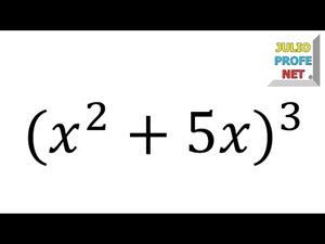 Productos notables: Binomio al cubo (Ejercicio 3)