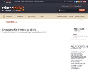 Representación humana en el arte (Educarchile)
