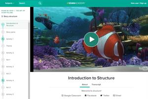 Want to tell a story? Start with structure (Khan Academy)