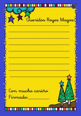 Modelo de cartas a Papá Noel y los Reyes Magos