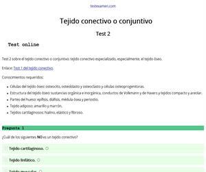 Test (2): tejido conectivo o conjuntivo