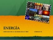 Unidad sobre la energía para 2º de la ESO