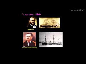 Perú: 1879. Combate Naval de Angamos