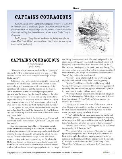 Classic Literature: Captains Courageous