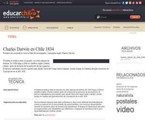 Charles Darwin en Chile 1834 (Educarchile)