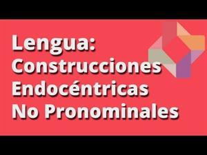 Construcciones endocéntricas verbales no pronominales