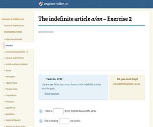 Definite and indefinite articles: the, a / an