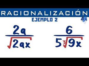 Racionalización de denominadores | Ejemplo 2 Monomio