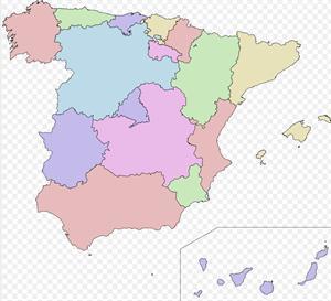 Mapa político España(comunidades autónomas)