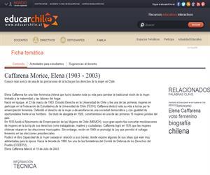 Caffarena Morice, Elena (1903 - 2003) (Educarchile)
