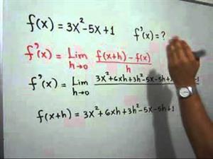 Derivada de una función usando el límite (JulioProfe)
