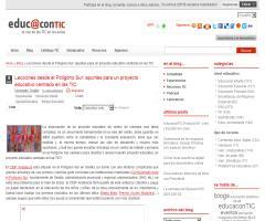 Lecciones desde el Polígono Sur: apuntes para un proyecto educativo centrado en las TIC   EducaconTIC