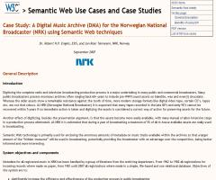 Case Study: A Digital Music Archive (DMA) for the Norwegian National Broadcaster (NRK) using Semantic Web techniques