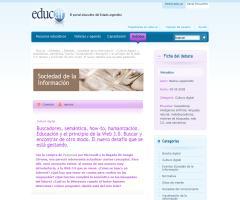 Buscadores, web semántica, how-to, humanización y educación (educ.ar)