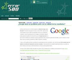 ¿Google tiene un problema serio con la calidad de los resultados? | Error500