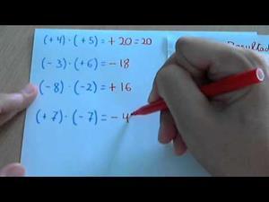 Multiplicar y dividir números enteros positivos y negativos (regla de signos)