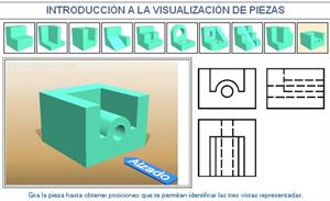 Introducción a la visualización de piezas. Ejemplo 10. Dibujo Técnico