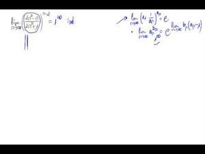 Límite de una potencia de sucesiónes (Número e)