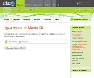 Martín Gil: Agua mansa