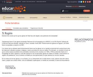 X Región Chiloé Unesco (Educarchile)