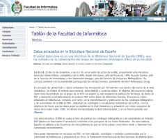 Datos enlazados. Link Open Data. Biblioteca Nacional España con Universidad Politécnica Madrid.