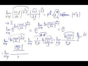 Regla de l'Hopital (1 elevado a infinito)