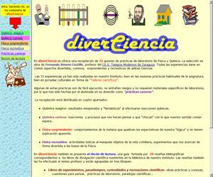 DiverCiencia, experimentos sencillos y prácticas de laboratorio de física y química