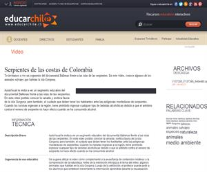 Serpientes de las costas de Colombia (Educarchile)