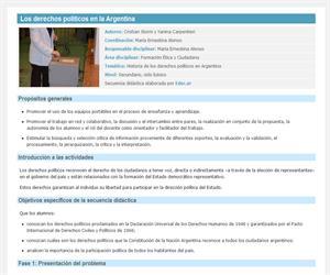 Los derechos políticos en la Argentina