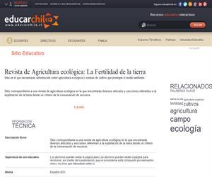 Revista de Agricultura ecológica: La Fertilidad de la  Tierra (Educarchile)