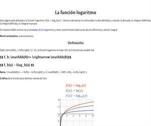 La función logaritmo
