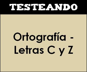 Ortografía - Letras C y Z. 1º ESO - Lengua (Testeando)