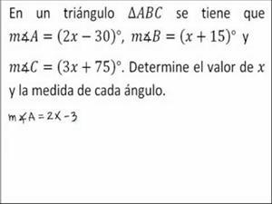 Ecuación con los ángulos de un triangulo (JulioProfe)