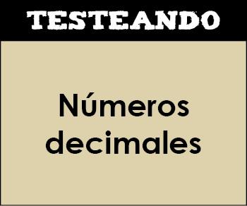 Números decimales. 4º Primaria - Matemáticas (Testeando)