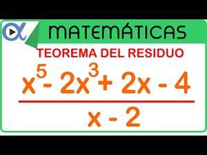 Teorema del residuo ejemplo 1 de 2