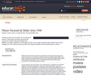 Museo Nacional de Bellas Artes 1946 (Educarchile)