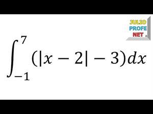 Integral definida con valor absoluto (JulioProfe)