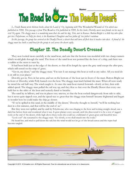 Classic Literature: The Road to Oz: The Deadly Desert