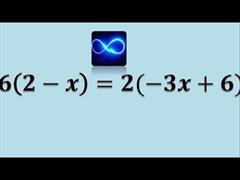 Ecuación con infinitas soluciones (PerúEduca)