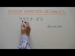 División de números decimales en Educación Primaria y Educación Secundaria