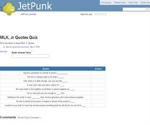 MLK, Jr Quotes Quiz