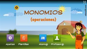 Operaciones con monomios - Unidad interactiva