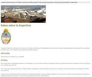 Datos sobre la Argentina
