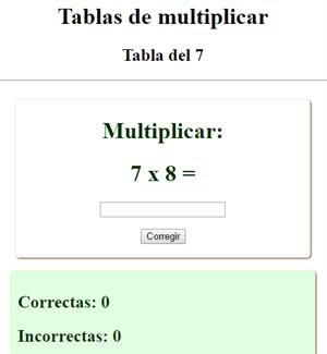 Tablas de multiplicar (interactivo)