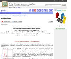 Descripción teórica  de los modelos atómicos. (Selectividad.tv)