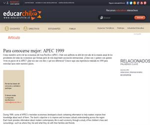 Para conocerse mejor: APEC 1999 (Educarchile)