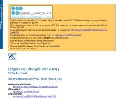 Lenguaje de Ontologías Web (OWL) Vista General